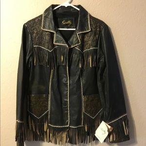 NWT - SCULLY - Fringe Tooled Leather Jacket